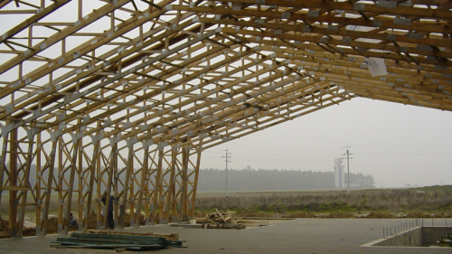 Offer Wooden Prefabricated Carcass Houses Roof Trusses