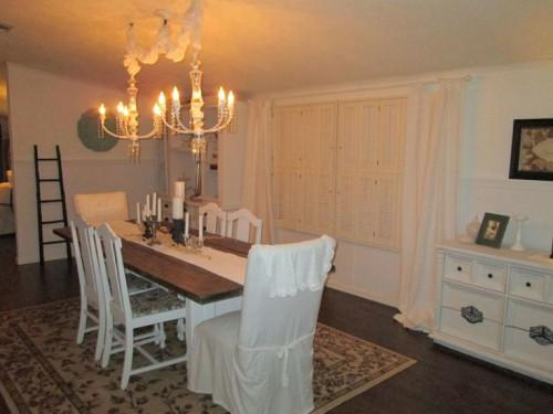 Old Mobile Home Makeovers Dining Room Had Sofa Chair