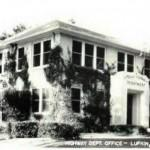Old Texas Highway Dept Main Office Remember Fish Pond