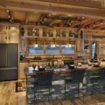 Open Log Home Kitchen Working Triangle