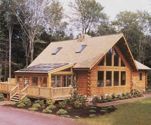 Open Particular Log Home