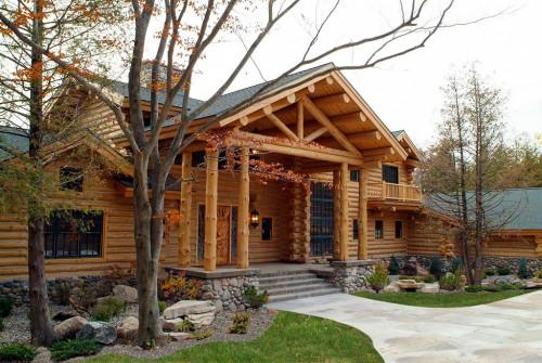 Our Half Log Siding Hewn Installation Seen Rose City Home