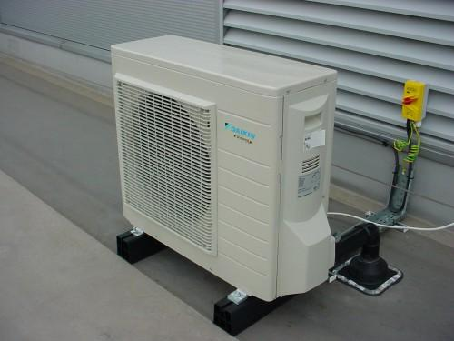 Outside Inverter Condensing Unit Shown Below