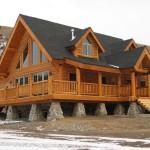 Panelized Log Homes Advantage Home Kit
