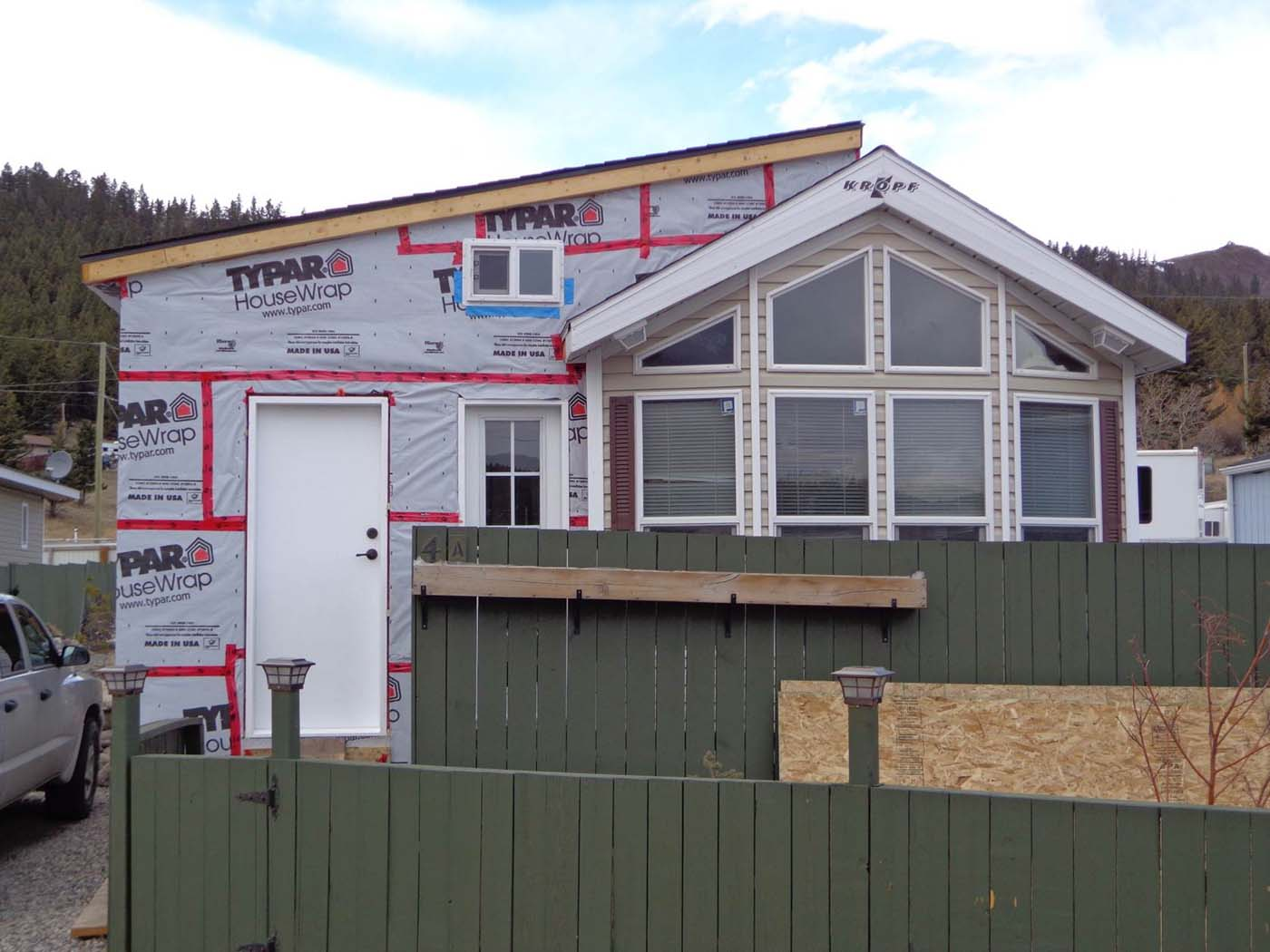 Park Model Manufactured Home Getting Addition Built Onto