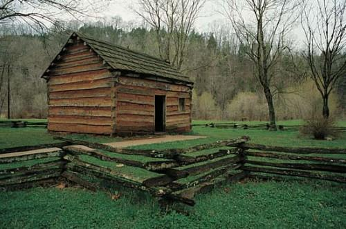 Photograph Replica Abraham Lincoln Boyhood Home Can Found