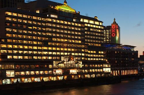 Photograph Shows Sea Containers House Oxo Tower Dusk