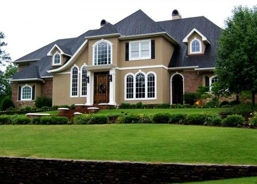 Picking Paint Colors House Green Grass
