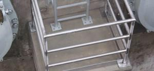 Plant Lockbourne Custom Prefab Stainless Steel Guard Rail