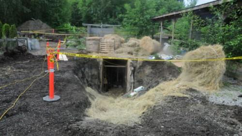 Police Search Revealed Five Shipping Containers Buried Underground
