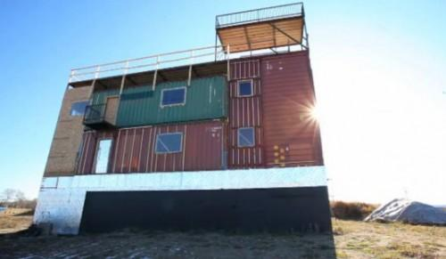 Powered Sea Can House Made Completely Shipping Containers