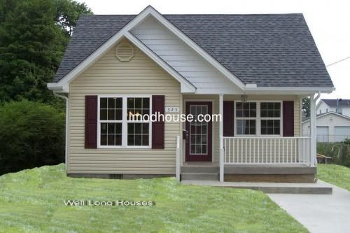Prefab Bungalow Homes Angle Steel Frame Villa Small House Wlh