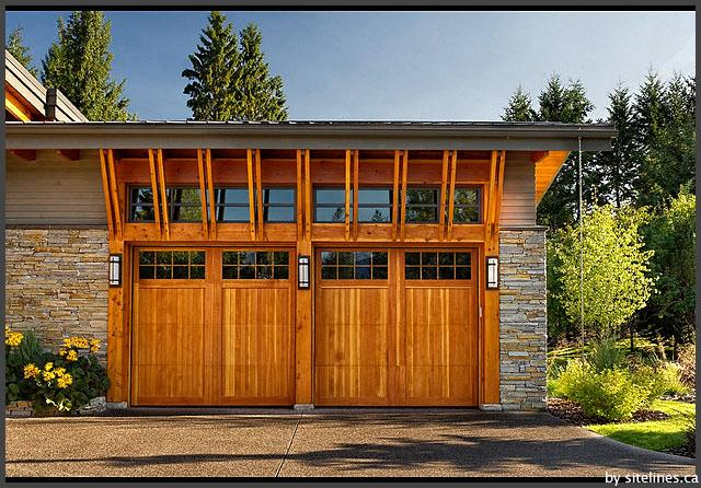 Prefab Garages Protects Your Car Magnificent Wooden Style Door