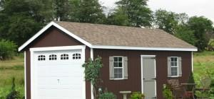 Prefab One Car Garage Sheds Traditional Shed
