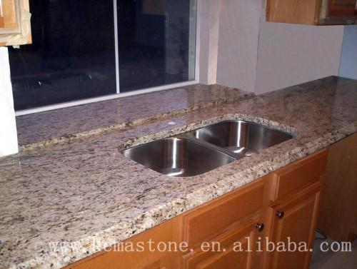Prefab Santa Cecilia Light Granite Countertops