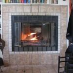 Prefab Woodburning Fireplace Bookshelve Design
