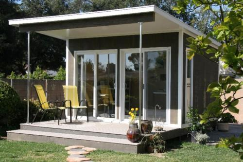 Prefabricated Cabin Used Backyard Artist Studio Shown