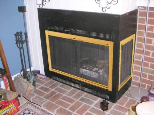 Prefabricated Fireplace Would Separate Doors Featuring