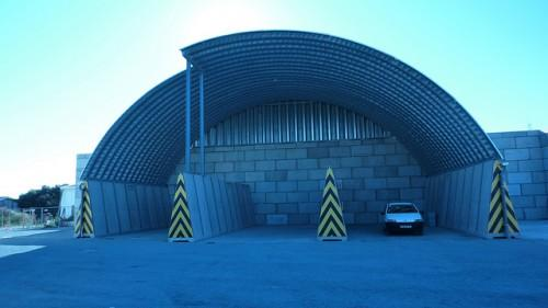 Prefabricated Steel Building Warehouse Over Self Supporting Concrete