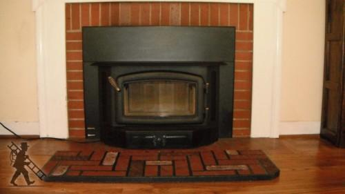 Prefabricated Wood Burning Fireplace Along Glass Cover