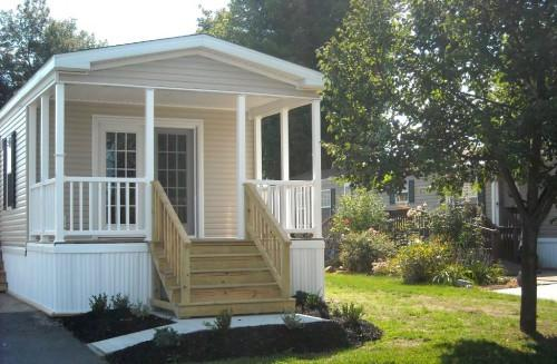 Pretty Slide Front Porch Design Mobile Homes