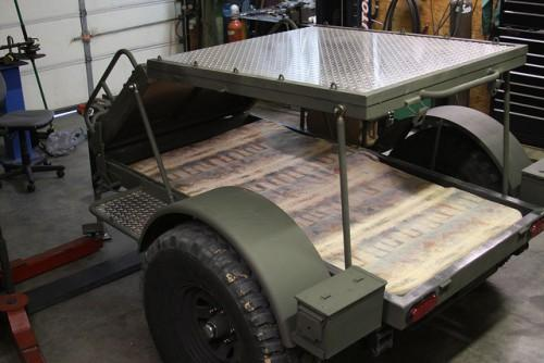 Raisable Deck Home Built Camping Trailer