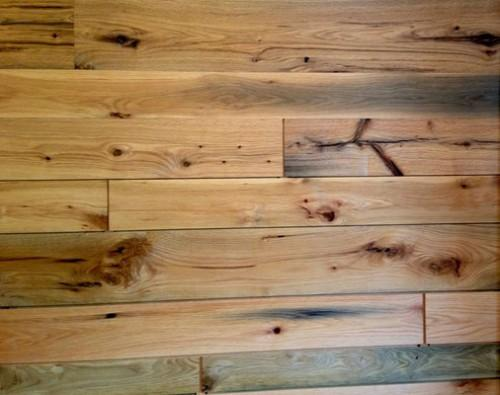 Reclaimed Boston Harbor Oak Wall Paneling Installed Lobby