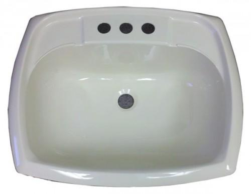 Rectangle Bone Plastic Sink Mobile Home Manufactured Housing