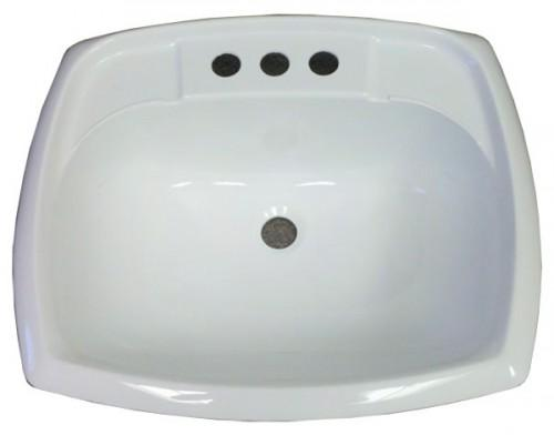 Rectangle White Plastic Sink Mobile Home Manufactured Housing