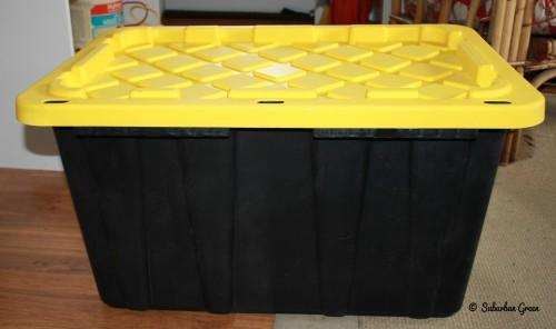 Regular Quart Plastic Storage Bin Got Home Depot