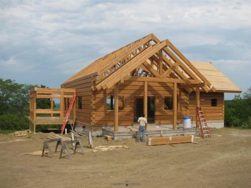 Reset Handcrafted Dovetail Log Home Caribou Creek Timber