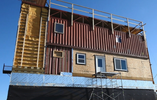 Rimbey Home Built Steel Shipping Containers