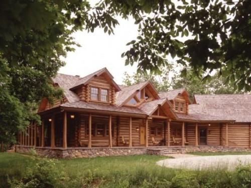River Custom Handcrafted Log Homes Maple Island