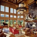 Roger Wade Studio Interior Photography Luxury Log Home Great Room