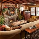 Rustic Christmas Indeed Decor Via Houzz