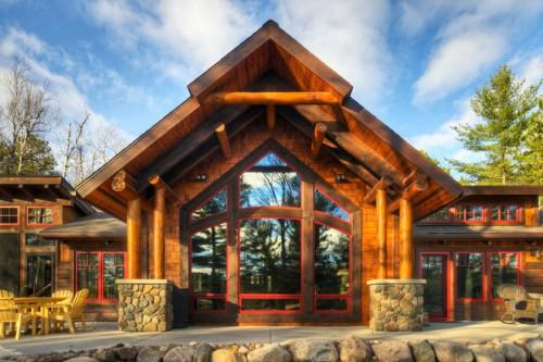 Rustic Exterior Tomahawk Log Country Homes Inc