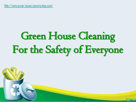 Safe Green House Cleaning Screenshot