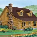 Satterwhite Log Homes Angelina Home Plan Ext