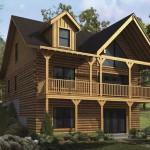 Satterwhite Log Homes Highland Home Plan Ext