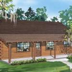 Satterwhite Log Homes Little Cypress Home Plan Ext