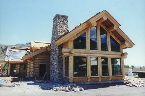 Scribe Fit Log Home Courtesy Place Sun Homes Inc