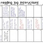 Search Results Home Reading Log Template Grade