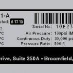 Serial Number Label Logo Model Address Barcode