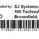 Serial Number Label Logo Model Address