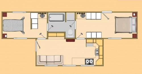 Shipping Container Floor Plan Big
