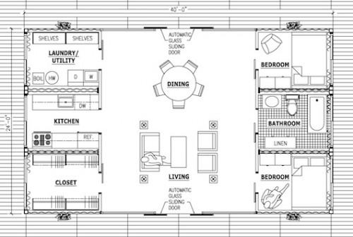 Shipping Container House Floor Plan