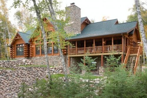 Shoreview Front Tomahawk Log Homes