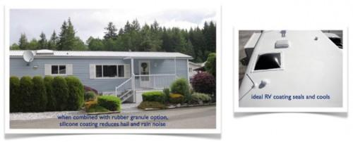 Silicone Roof Mobile Homes
