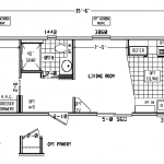 Single Wide Mobile Home Floor Plans Bedroom Plan