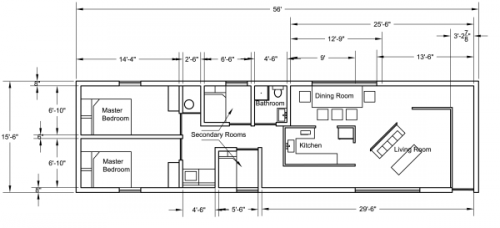 Single Wide Mobile Home Plans Residence Floor According
